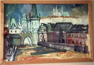 painting of prague